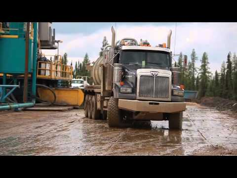 Extracting oil sands for the Keystone XL pipeline