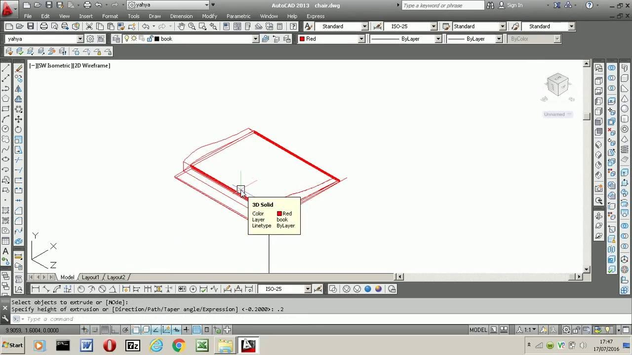 3d autocadhow to draw books youtube 3d autocadhow to draw books baditri Image collections