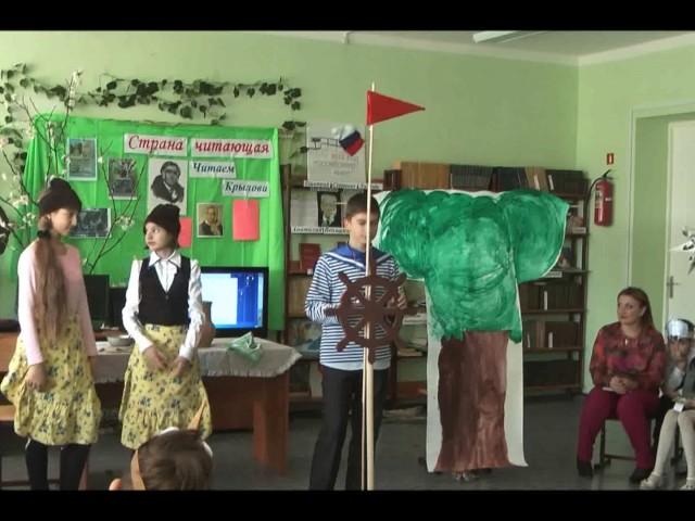 """Изображение предпросмотра прочтения – «Школьный театр """"Радость""""» читает произведение «Мыши» И.А.Крылова"""