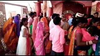 A big croud of khabariya is gathering in famous Are raj temple