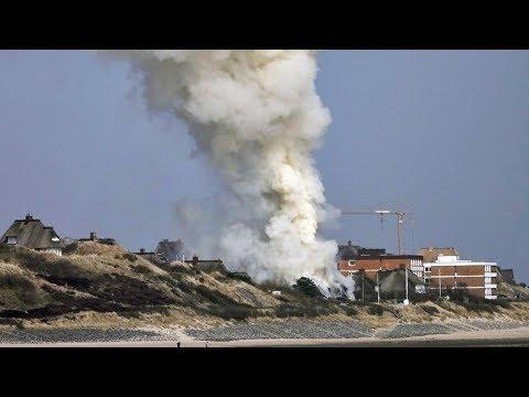 Reetdachhaus Großbrand in List auf Sylt - Millionenschaden