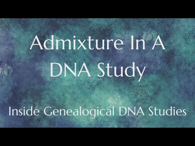 Admixture In A DNA Study