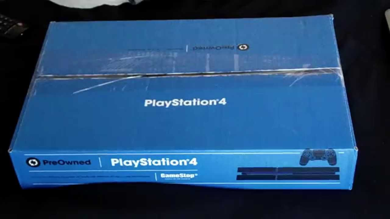 A Dsplay Unboxing 3 23 15 Sony Playstation 4 Gamestop Pre Owned