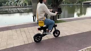 DYU V1 Electric bike without pedal riding show