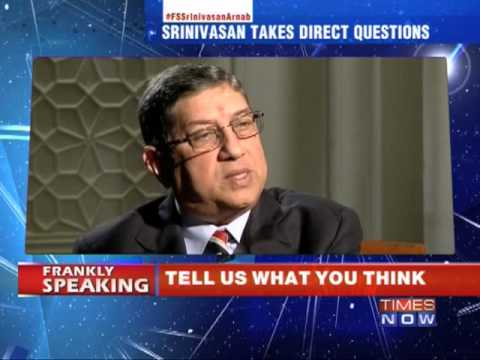 Frankly Speaking with N Srinivasan - Part 3
