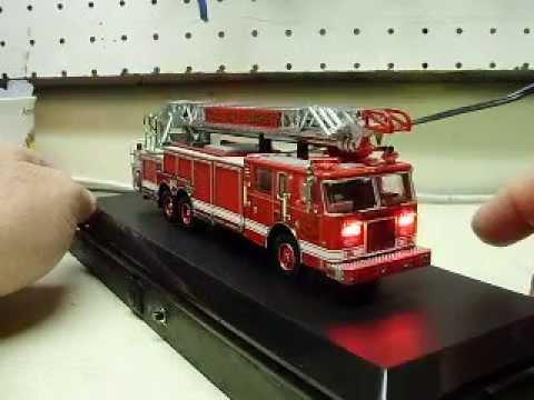 Detroit Fire Department Code 3 Diecast Aerial Ladder Truck