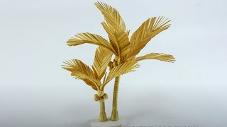[Handmade] How to make a coconut tree with toothpicks