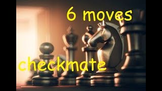 chess trick  WIN chess fast in 6 moves