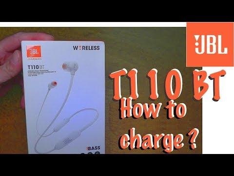 JBL T110 BT pure bass Bluetooth headphones How to recharge the battery