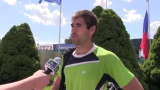 Michal Franěk po výhře ve finále kvalifikace na turnaji Futures v Ústí n. O.