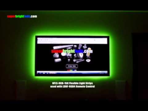 LED Accent Lighting behind Plasma Television - YouTube