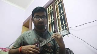 Ei Meghla Dine Ekla   Hemanta Mukherjee   Ukulele Cover - Debayan Basu