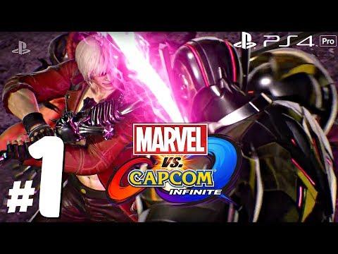 Marvel vs Capcom: Infinite - Gameplay Walkthrough Part 1 - Full Story Demo (1080p 60fps) PS4 Pro