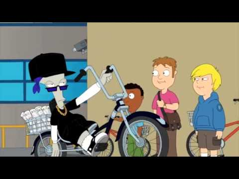 American Dad Roger Riding A Bike Youtube