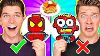Pancake Art Challenge Mystery Wheel 2 & Learn How To Make