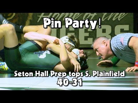 Seton Hall Prep 40 South Plainfield 31   HS Wrestling   Eight Total Pins!
