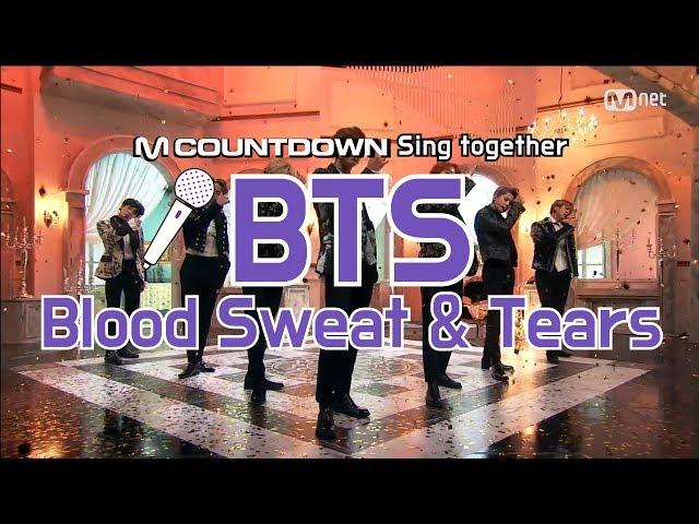 [MCD Sing Together] BTS - Blood Sweat & Tears Karaoke ver.