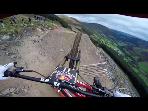 Dan Atherton Sends It Down the Hardline MTB Track  Red Bull Hardline: GoPro View