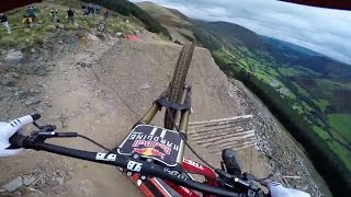 Dan Atherton Sends It Down the Hardline MTB Track | Red Bull Hardline: GoPro View(Elevate your stoke factor with more GoPro videos! http://win.gs/2lNWVFO See firsthand what it's like to rip down one of the heaviest downhill mountain bike ..., 2016-10-08T14:00:01.000Z)