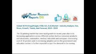 global 3d printing polyjet fdm sls sla market industry analysis size share growth trends