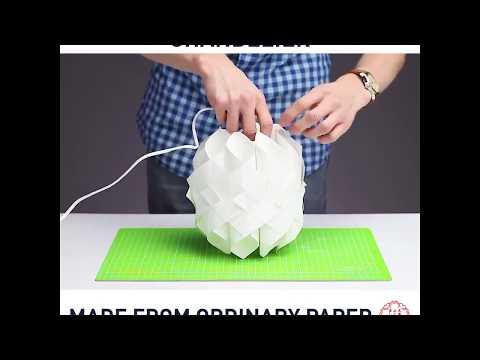5 Minute Crafts - Cách Làm đèn Treo Tường Bằng Giấy đơn Giản