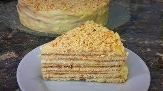 ТОРТ НА СКОВОРОДЕ. Простой рецепт с заварным кремом. Домашний торт.