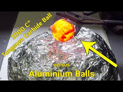 Thumbnail: Glowing 1000 Degree Tungsten Ball vs Aluminium Foil Balls
