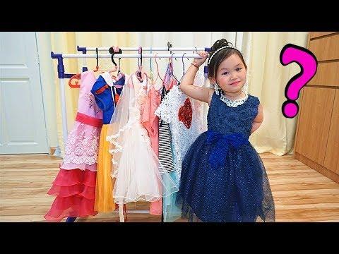 化妝遊戲變身公主裙子去派對!過家家玩具 兒童可愛變裝短劇~ Kids Pretend Play Dress Up and Make Up Toys!