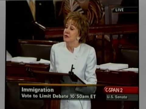 U.S. Senator Elizabeth Dole two minutes before 2017 amnesty vote