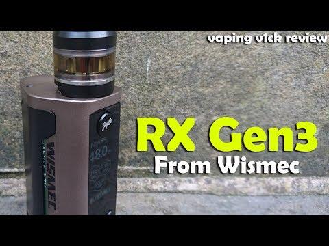 Wismec Reuleaux RX GEN3 & Gnome tank - Review