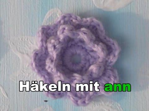 Eine 3 D Blume Häkeln Youtube
