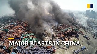 Major explosions at China industrial sites