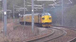 Colas 37099 & 37175 on Test Train duties: 18th-22nd February 2017