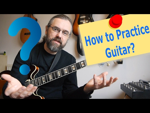 Vlog - How to practice Guitar - How you think about your practice routine