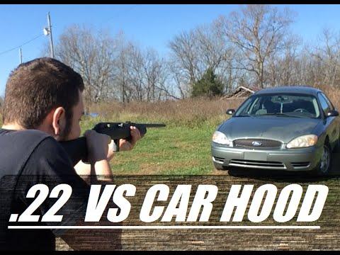 Can a .22lr Go Through a Car Hood?