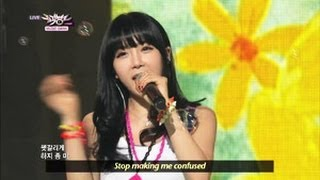 [Music Bank w/ Eng Lyrics] Rainbow - Tell me tell me (2013.04.13)