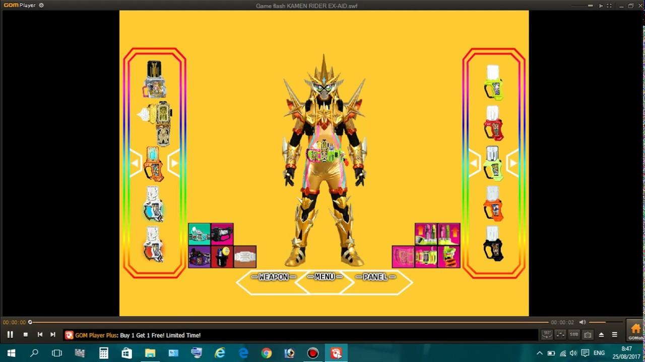 Game Flash Kamen Rider Ex-Aid Mode Hyper Muteki - YouTube