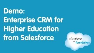 Enterprise CRM for Higher Education from Salesforce