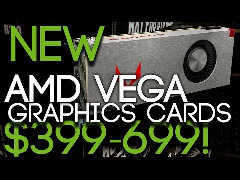NEW AMD VEGA RX-Graphics Cards Available 14th of August From $399!