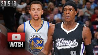 Stephen Curry vs Rajon Rondo PG Duel Highlights (2015.11.07) Kings vs Warriors - EPIC!