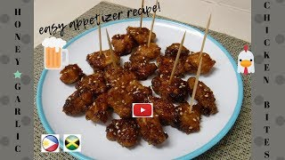 How to cook Honey-Garlic CHICKEN BITES/ simple & easy recipe/ appetizer/ pulutan/Pagkaing Pinoy