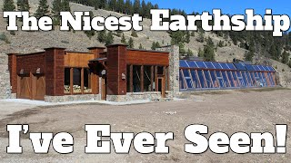 The Nicest Earthship I've Ever Seen! Earthship House by Biotecture - Passive Solar - Off Grid