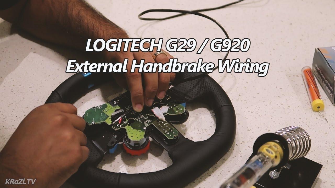 Logitech G29    G920 External Handbrake Mod