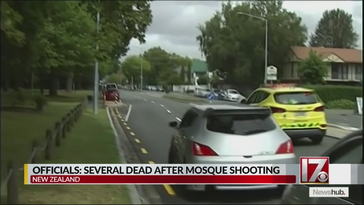 Many dead in New Zealand mosque shooting, witness says