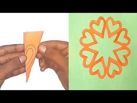 Heart  Snowflake  ideas for Valentine's day Decoration || Snowflakes Ideas❤