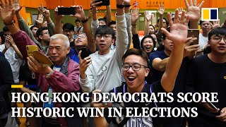 Hong Kong's pro-Beijing camp reeling after crushing defeat in district council elections