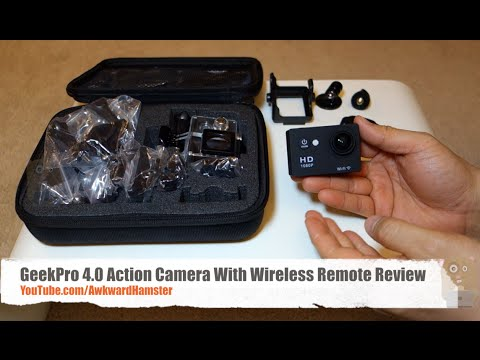 Geekpro Camera Review : Geekpro action camera with wireless remote review youtube