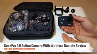 GeekPro 4.0 Action Camera With Wireless Remote Review