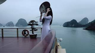 Ao dai Vietnam Golden Cruise ship HaLong Bay