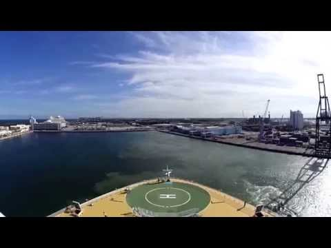Allure of The Seas sail away Fort Lauderdale Port Everglades